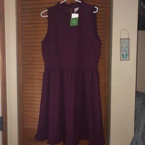 Kate Spade Ruffle Flare Dress Ma Cherie NWT sz 16